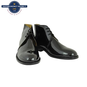 Black Patent Leather George Boots boxed for Spurs