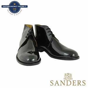 Black Patent Leather George Boots-Sanders