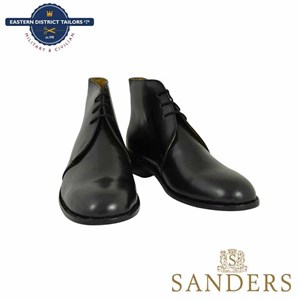 Black Leather George Boots-Sanders
