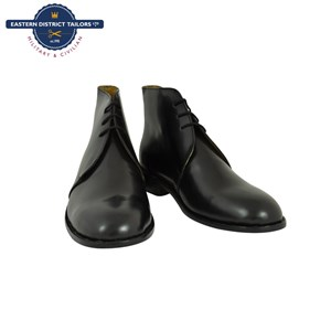 Black Leather George Boots boxed for Spurs