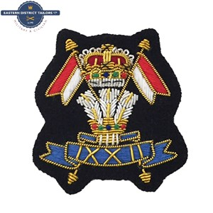 9th/12th Lancers Embroidered Beret Badge