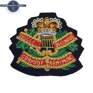 Corps of Army Music Embroidered Beret Badge