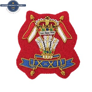 Royal Lancers Embroidered Beret Badge