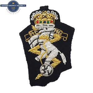 REME Embroidered Beret Badge