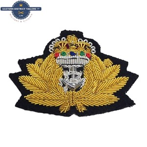 Royal Navy Embroidered Cap Badge