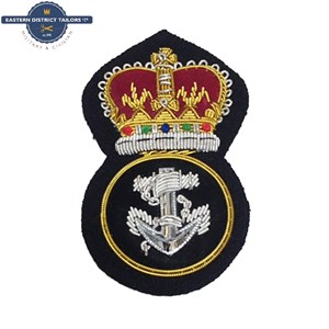 Royal Navy Petty Officers Embroidered Cap Badge