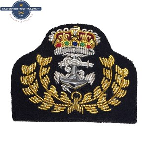 Royal Navy WO Embroidered Beret Badge