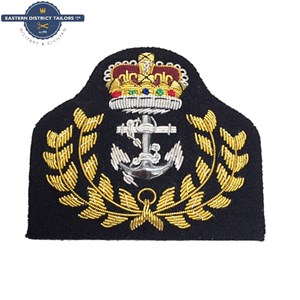 Royal Navy WO Embroidered Cap Badge