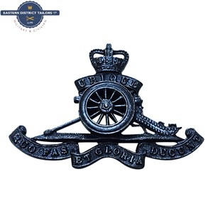 Royal Artillery Officers Metal Cap Badge