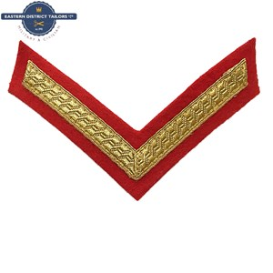 Lance Corporal Chevron Gold on Red