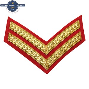Corporal Chevrons Gold on Red
