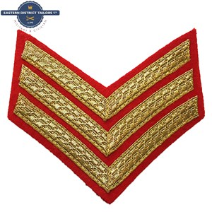 Sergeant Chevrons Gold on Red