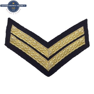Corporal Chevrons Gold on Black