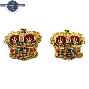 Gold Embroidered Majors Mess Dress Crowns
